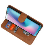 Bookstyle Wallet Cases Hoes voor Honor View 20 Bruin_