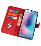Bookstyle Wallet Cases Hoesje voor Samsung Galaxy A8s Rood_