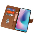 Bookstyle Wallet Cases Hoesje voor Samsung Galaxy A8s Bruin_