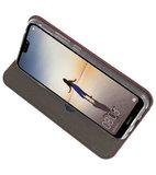 Slim Folio Case voor Huawei P20 Lite Bordeaux Rood_