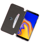 Bordeaux Rood Slim Folio Case voor Samsung Galaxy J4 Plus_