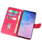 Bookstyle Wallet Cases Hoesje voor Samsung Galaxy S10 Roze_