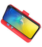 Bookstyle Wallet Cases Hoesje voor Samsung Galaxy S10e Rood_