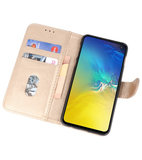 Bookstyle Wallet Cases Hoesje voor Samsung Galaxy S10e Goud_