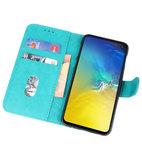 Bookstyle Wallet Cases Hoesje voor Samsung Galaxy S10e Groen_