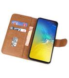 Bookstyle Wallet Cases Hoesje voor Samsung Galaxy S10e Bruin_