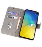 Bookstyle Wallet Cases Hoesje voor Samsung Galaxy S10e Grijs_
