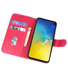 Bookstyle Wallet Cases Hoesje voor Samsung Galaxy S10e Roze_