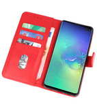 Bookstyle Wallet Cases Hoesje voor Samsung Galaxy S10 Plus Rood_