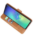 Bookstyle Wallet Cases Hoesje voor Samsung Galaxy S10 Plus Bruin_