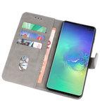 Bookstyle Wallet Cases Hoesje voor Samsung Galaxy S10 Plus Grijs_