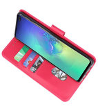 Bookstyle Wallet Cases Hoesje voor Samsung Galaxy S10 Plus Roze_
