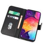 Bookstyle Wallet Cases Hoesje voor Samsung Galaxy A50 Zwart_