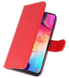 Bookstyle Wallet Cases Hoesje voor Samsung Galaxy A50 Rood_