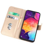 Bookstyle Wallet Cases Hoesje voor Samsung Galaxy A50 Goud_