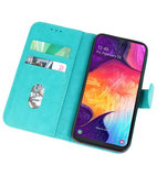 Bookstyle Wallet Cases Hoesje voor Samsung Galaxy A50 Groen_