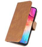 Bookstyle Wallet Cases Hoesje voor Samsung Galaxy A50 Bruin_