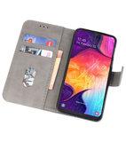 Bookstyle Wallet Cases Hoesje voor Samsung Galaxy A50 Grijs_
