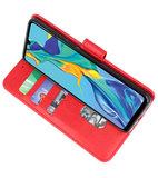 Bookstyle Wallet Cases Hoesje voor Huawei P30 Rood_