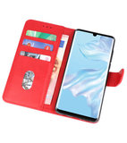 Bookstyle Wallet Cases Hoesje voor Huawei P30 Pro Rood_