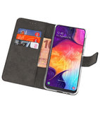 Booktype Wallet Cases Hoesje voor Samsung Galaxy A50 Zwart_