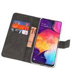 Booktype Wallet Cases Hoesje voor Samsung Galaxy A50 Wit_