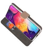 Booktype Wallet Cases Hoesje voor Samsung Galaxy A50 Goud_
