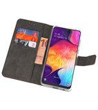 Booktype Wallet Cases Hoesje voor Samsung Galaxy A50 Bruin_