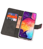 Booktype Wallet Cases Hoesje voor Samsung Galaxy A50 Roze_