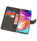 Booktype Wallet Cases Hoesje voor Samsung Galaxy A70 Zwart_