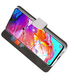 Booktype Wallet Cases Hoesje voor Samsung Galaxy A70 Wit_