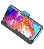 Booktype Wallet Cases Hoesje voor Samsung Galaxy A70 Blauw_