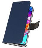 Booktype Wallet Cases Hoesje voor Samsung Galaxy A70 Navy_