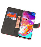 Booktype Wallet Cases Hoesje voor Samsung Galaxy A70 Rood_
