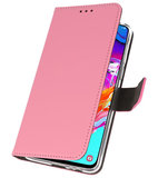 Booktype Wallet Cases Hoesje voor Samsung Galaxy A70 Roze_