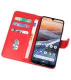 Bookstyle Wallet Cases Hoesje voor Nokia 3.2 Rood_