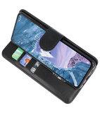Bookstyle Wallet Cases Hoesje voor Nokia X71 Zwart_