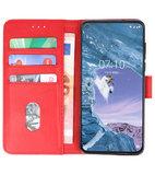 Bookstyle Wallet Cases Hoesje voor Nokia X71 Rood_