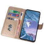 Bookstyle Wallet Cases Hoesje voor Nokia X71 Goud_