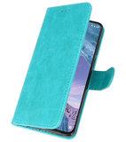 Bookstyle Wallet Cases Hoesje voor Nokia X71 Groen_