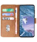 Bookstyle Wallet Cases Hoesje voor Nokia X71 Bruin_
