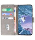 Bookstyle Wallet Cases Hoesje voor Nokia X71 Grijs_
