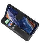Bookstyle Wallet Cases Hoesje voor Nokia 9 PureView Zwart_