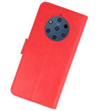 Bookstyle Wallet Cases Hoesje voor Nokia 9 PureView Rood_