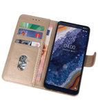 Bookstyle Wallet Cases Hoesje voor Nokia 9 PureView Goud_