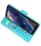 Bookstyle Wallet Cases Hoesje voor Nokia 9 PureView Groen_