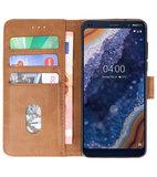 Bookstyle Wallet Cases Hoesje voor Nokia 9 PureView Bruin_