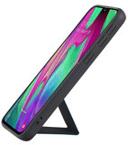 Grip Stand Hardcase Backcover voor Samsung Galaxy A40 Blauw_