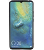 Grip Stand Hardcase Backcover voor Huawei Mate 20 X Bruin_