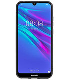 Grip Stand Hardcase Backcover voor Huawei Y6 / Y6 Prime 2019 Blauw_